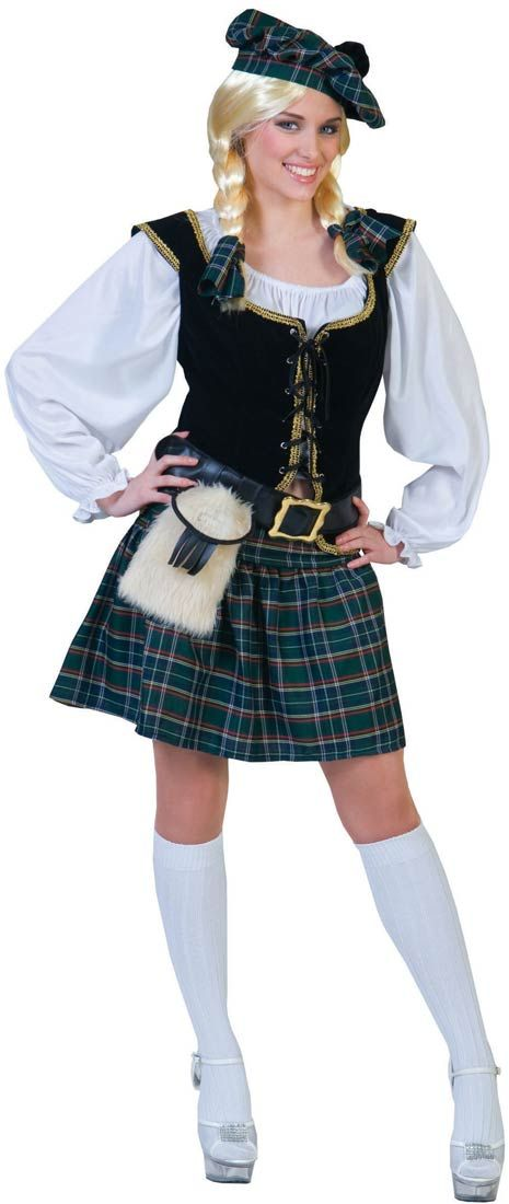 womens scottish lass adult costume costume craze - Scottish Girl Halloween Costume