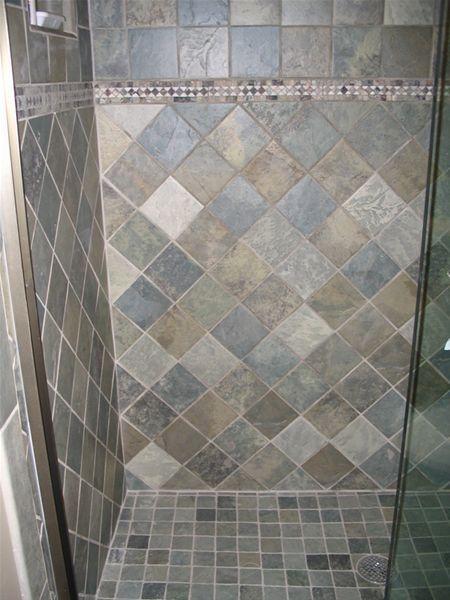 Shower Tile Options Primitive Bathrooms Blue Bathroom Tile