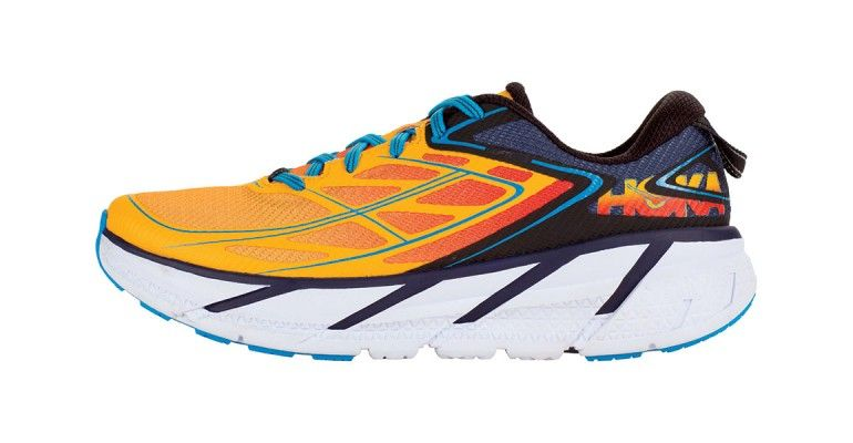 Men's Hoka One One Clifton 3 Running Shoes – Color: Medieval Blue/Gold  Fusion