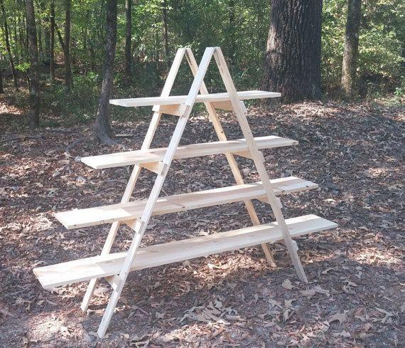 Ladder Shelf Display 5 Foot Tall Portable Arts And