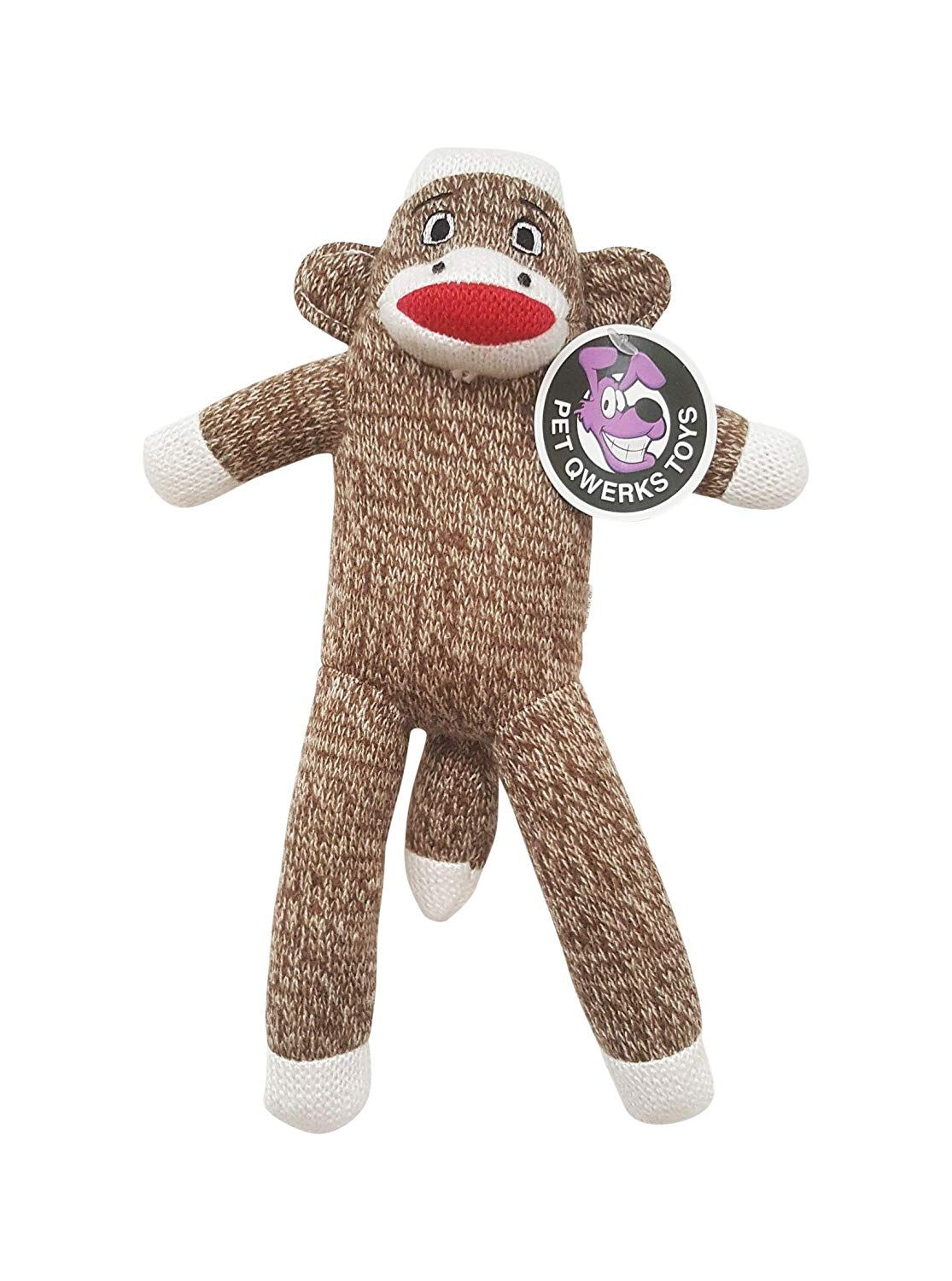 Pet Qwerks Sock Monkey Dog Toy Very Kind Of Your Presence To