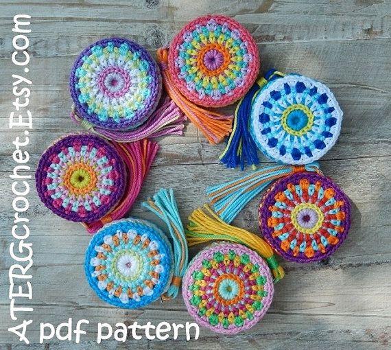 Crochet pattern Tape measure cover by ATERGcrochet | Maßband ...