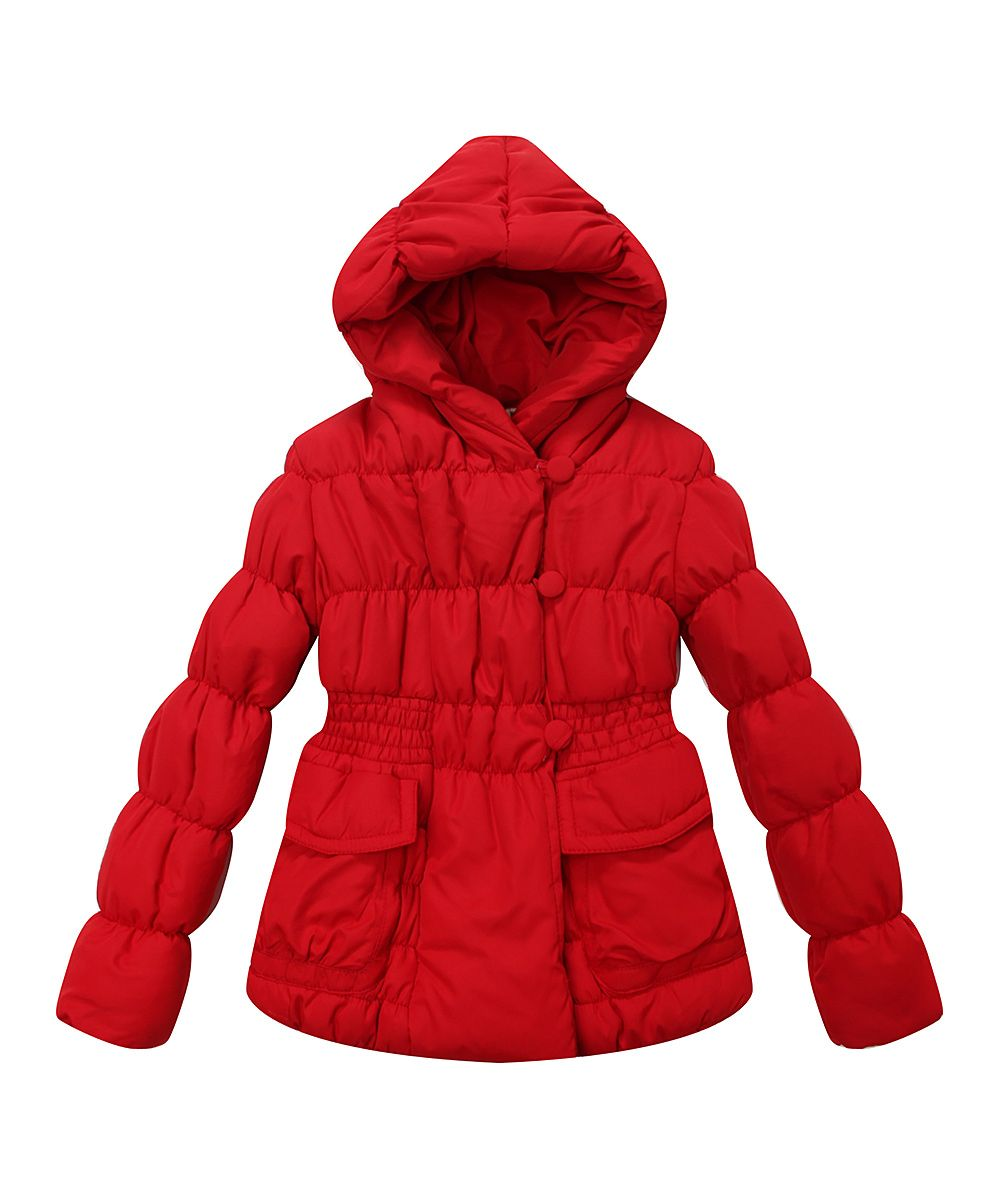 5a51fb687 Red Puffer Coat - Infant Toddler   Girls