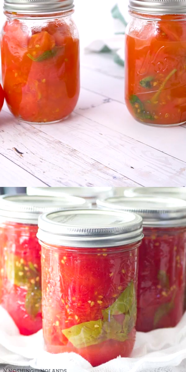 Simple Easy Homemade Canned Tomatoes are the best way to ...