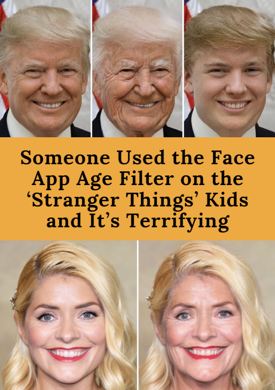 Someone Used the Face App Age Filter on the 'Stranger Things