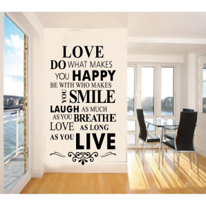 Quote Wall Stickers Vinyl Art Home Room DIY Decal Home Decor Removable Mural DNH