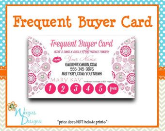Pink Zebra Frequent Buyer Card Business Card By Weeziesdesigns Card Template Card Templates Mary Kay