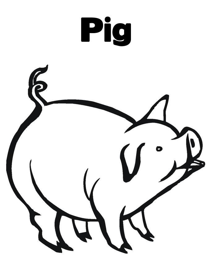 photo relating to Printable Pig Coloring Pages titled No cost Printable Pig Coloring Web pages For Young children kindergarten