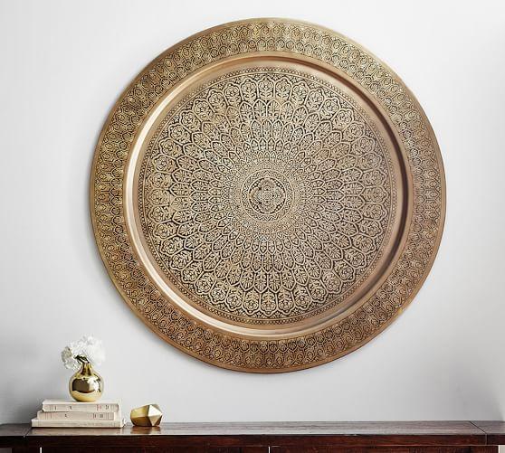 Decorative metal disc brass home decor