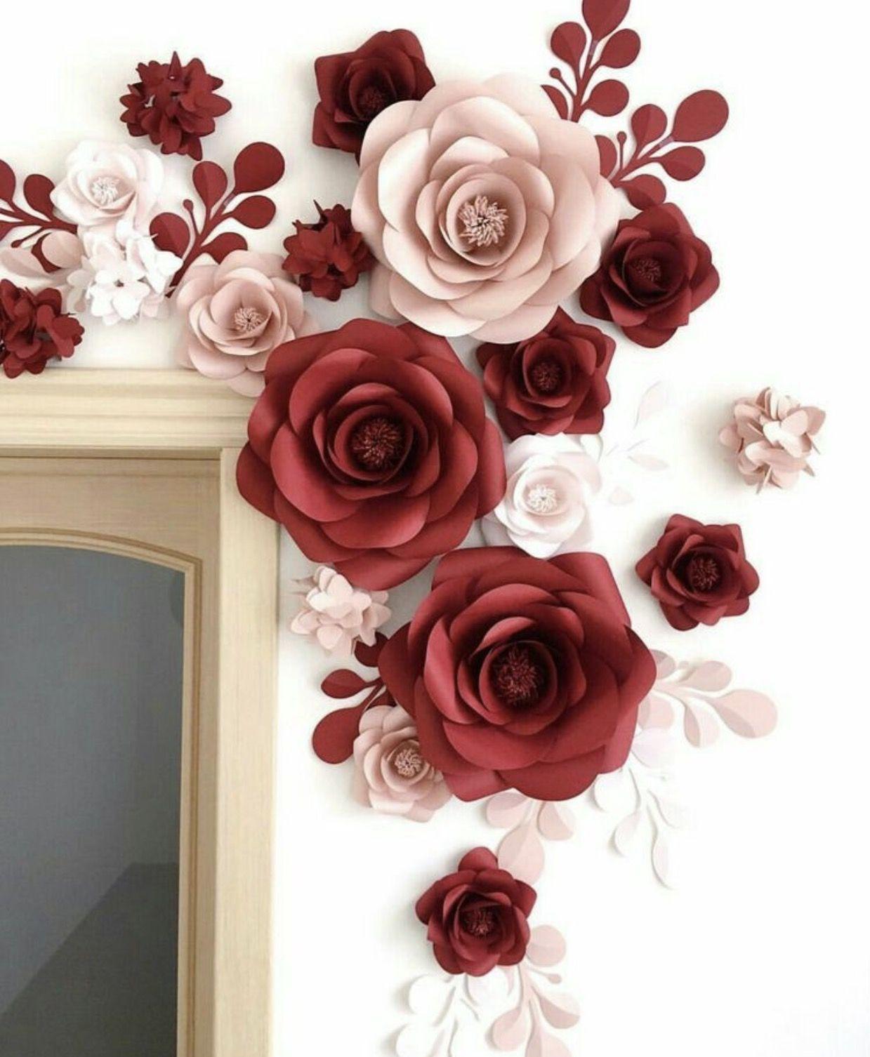 Decoração com flores de papel, uma ideia simples, fácil e que da ...