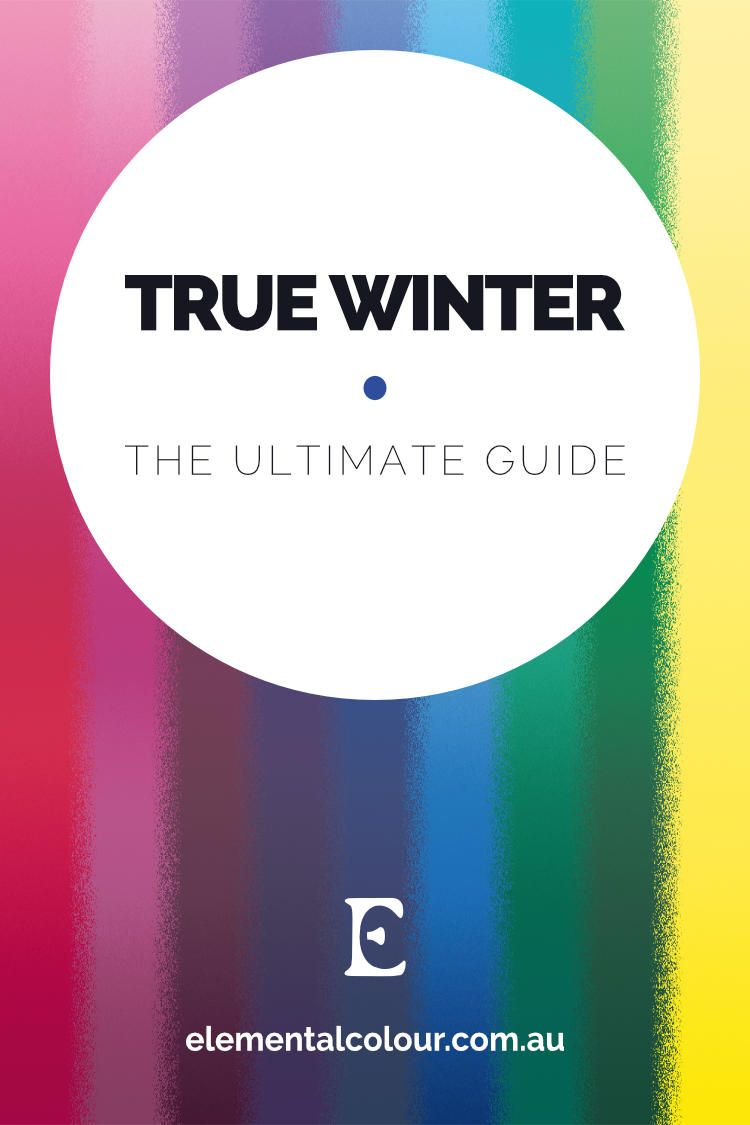 True Winter: The Ultimate Guide | Cool winter color ...