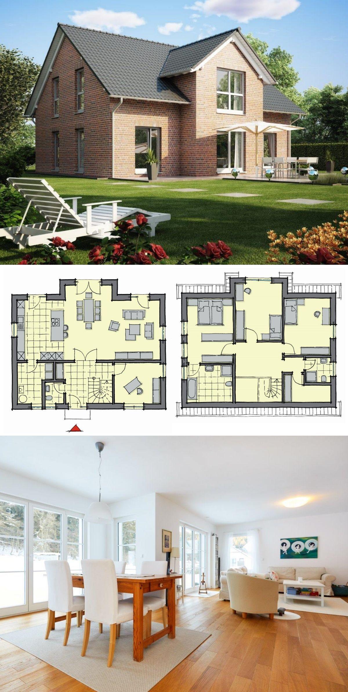 Einfamilienhaus Kiefernallee mit Klinker Fassade GUSSEK HAUS