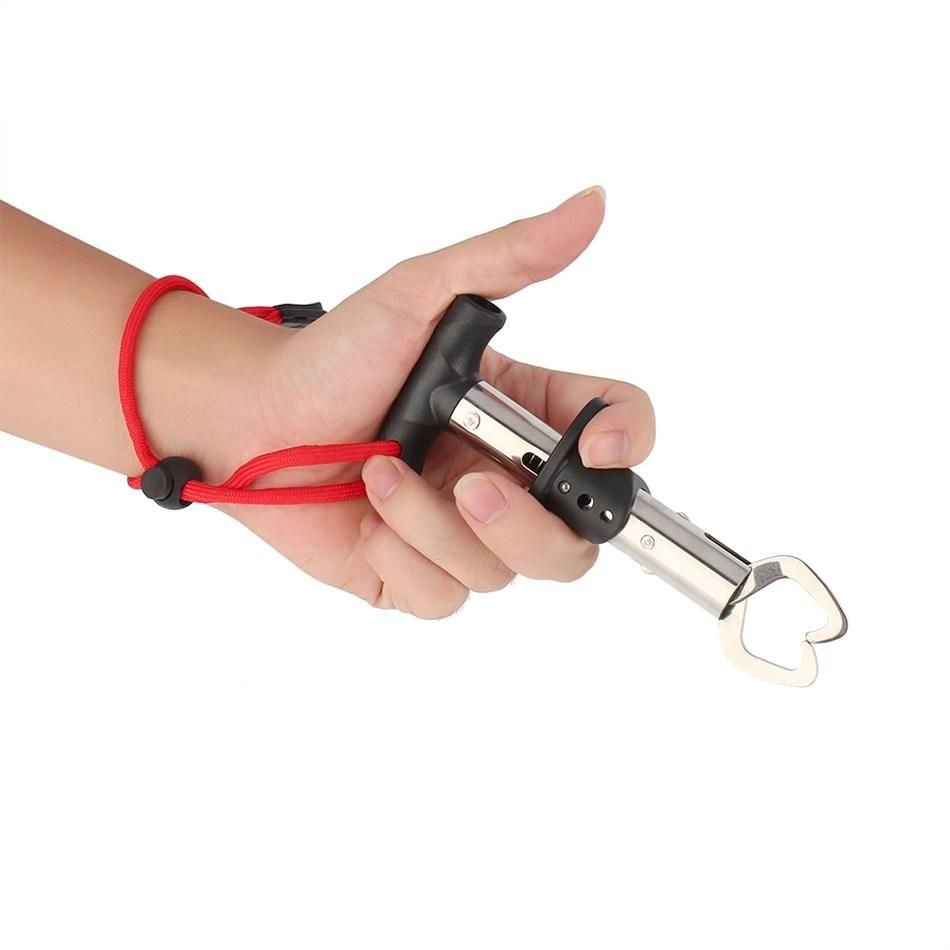 Stainless Steel Fishing Gripper Gear Lip Grabber Trigger Tackle Fishing Tool US