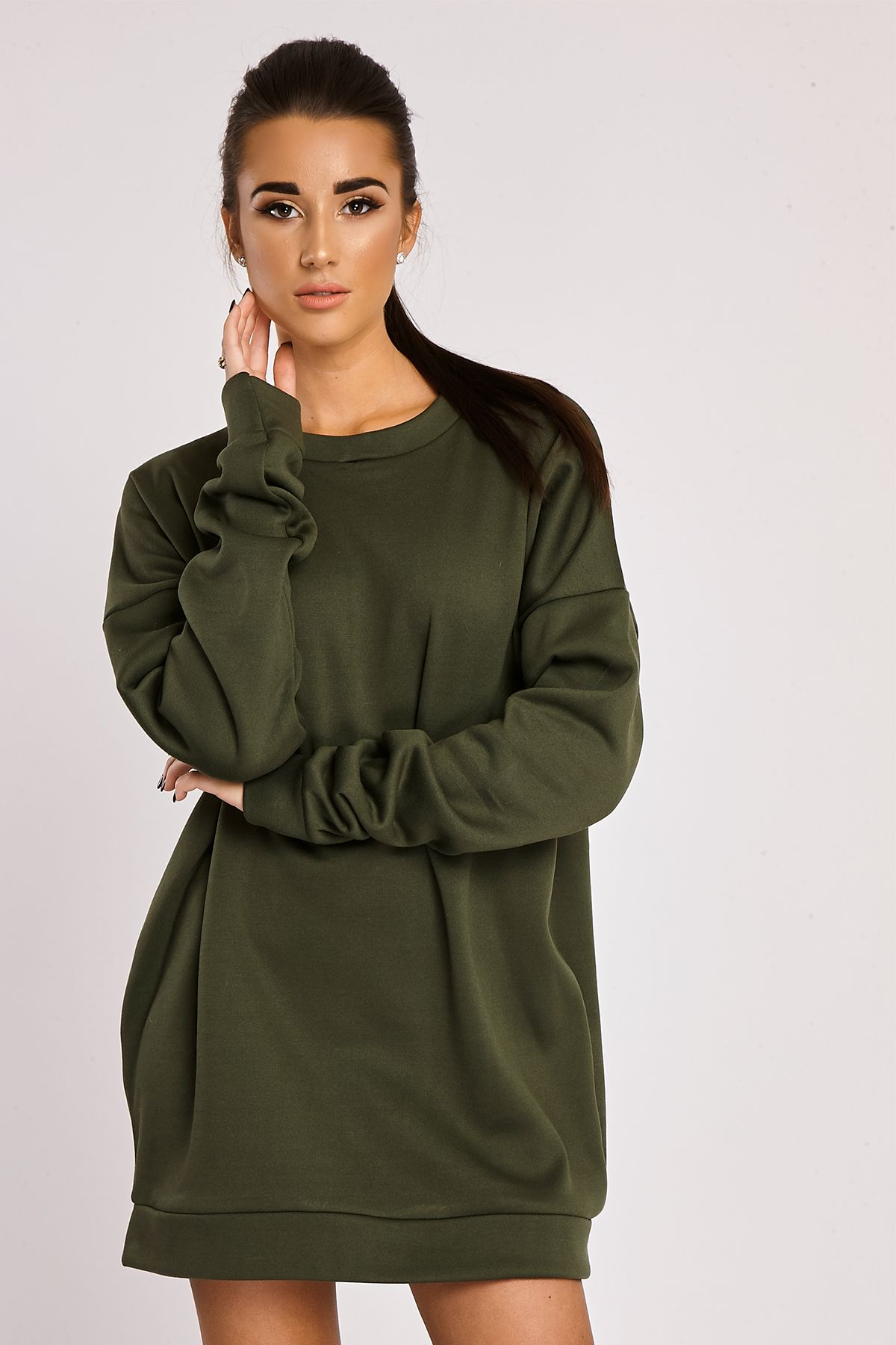 Khaki Last Oversized A Sweater Lifetime DressWardrobe Chlo To PuwkOXZiT