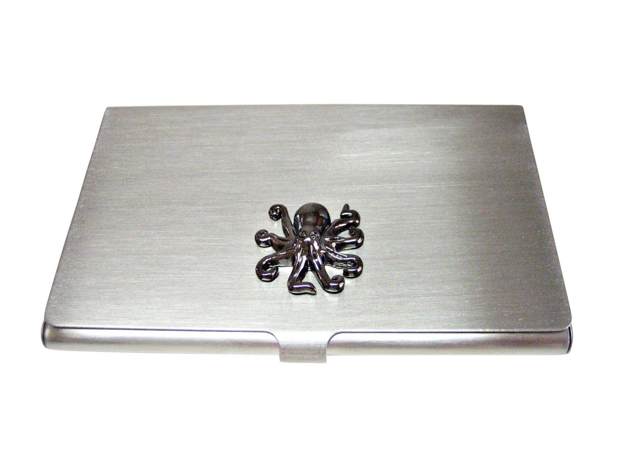 Gunmetal Toned Octopus Business Card Holder
