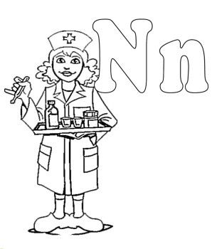 N For Nurse Coloring Pages | Kids Coloring Pages | Pinterest