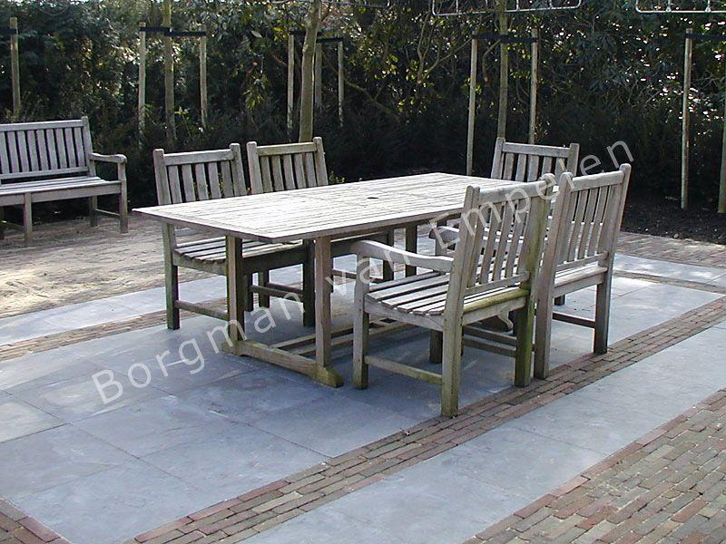 Voorbeeld terras tuin bestrating terras tuin en