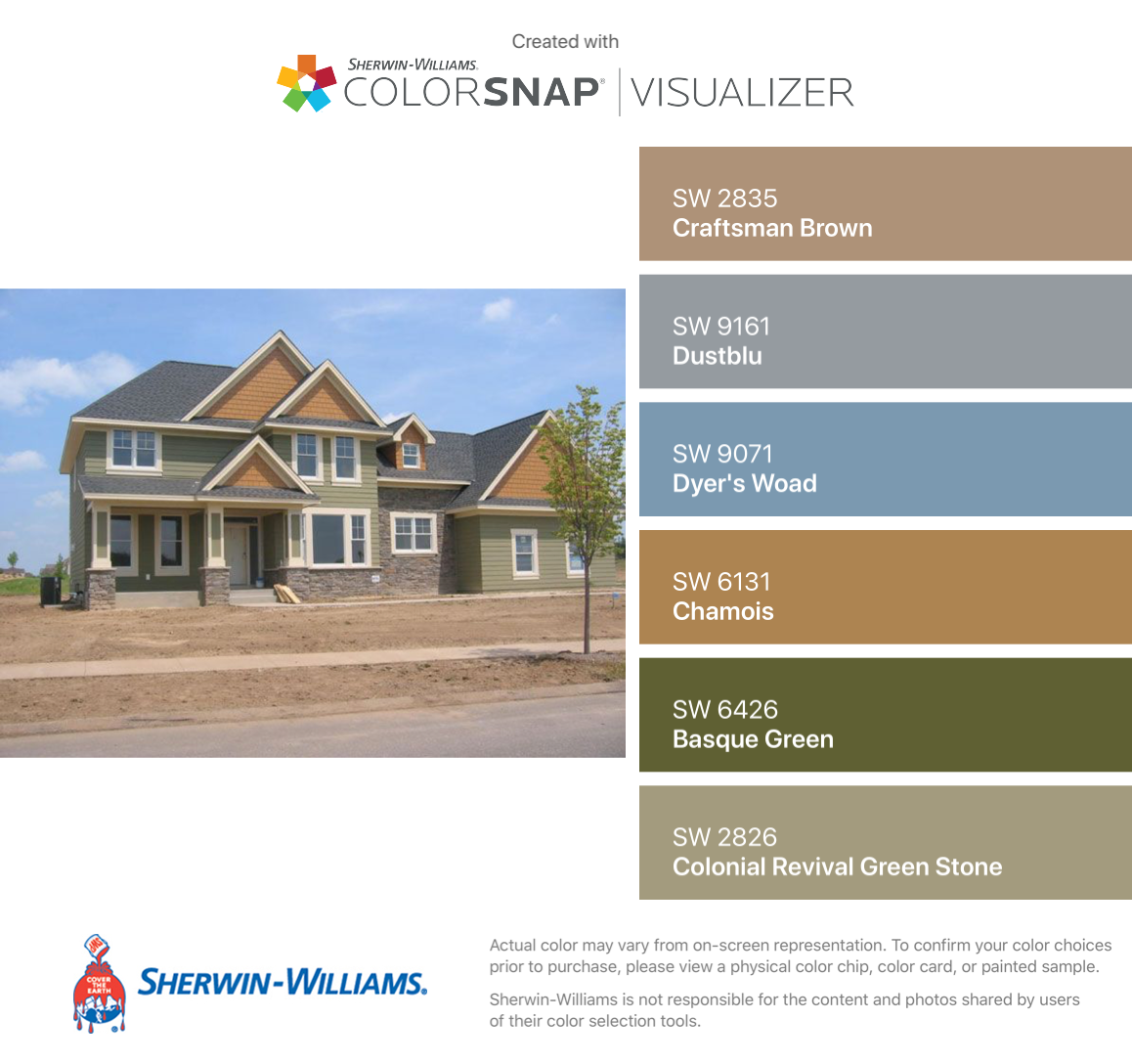 Sage And Brown Color Schemes: Image Result For Craftsman Brown Sw2835