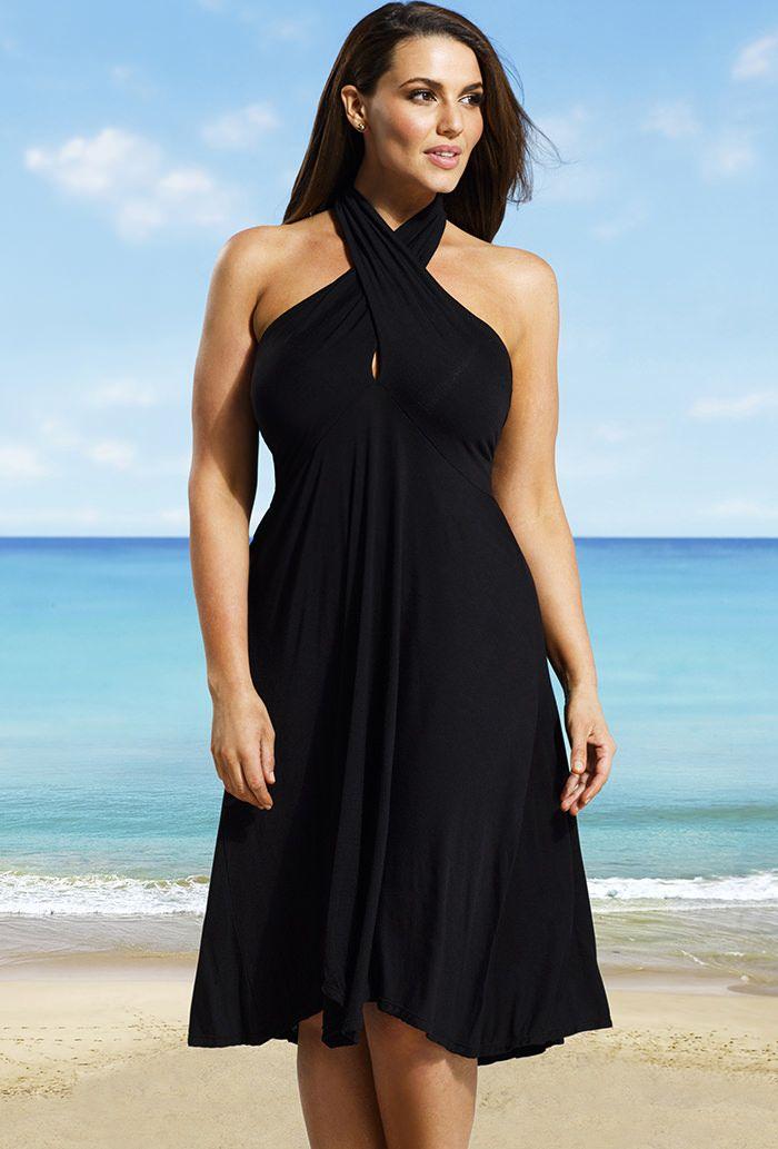 Black Plus Size Convertible Dress Swim Pinterest Convertible