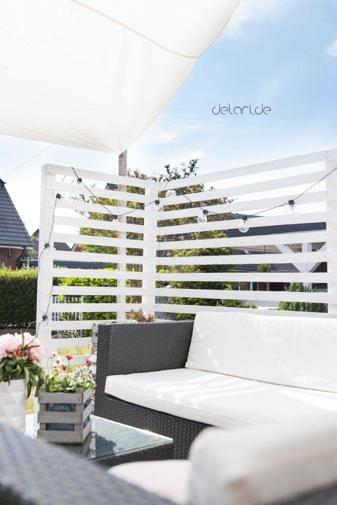 Terrassenumrandung Sichtschutz DIY selberbauen Materialliste #sichtschutzterasse