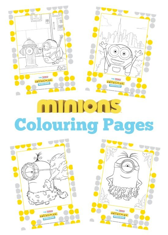 A Thrifty Mum: Free Minions colouring book. Get the kids all Minion ...