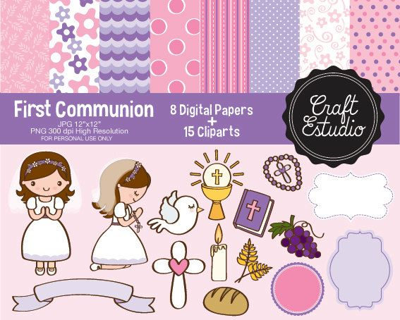 first communion first comunion girl catholic instant download rh pinterest nz First Communion Girl First Holy Communion Clip Art