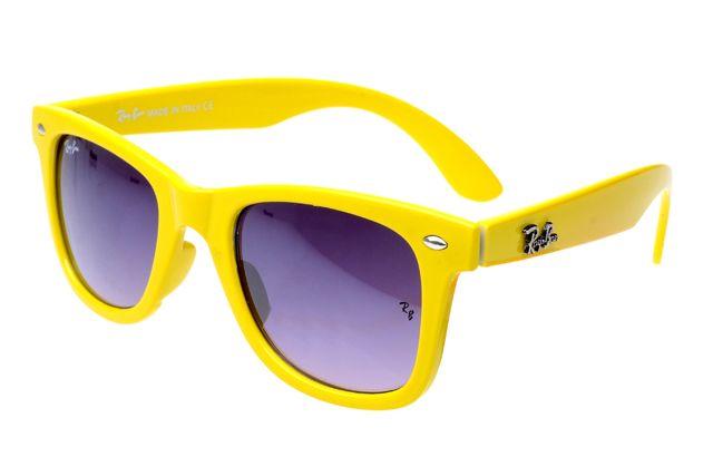 450e855e54e Ray Ban Wayfarer RB2140 Sunglasses Yellow Frame Purple Lens APE ...