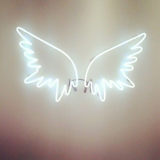 Home Accessory Neon Angel Wings Decor Lights Pretty Y Cly Cute Fly