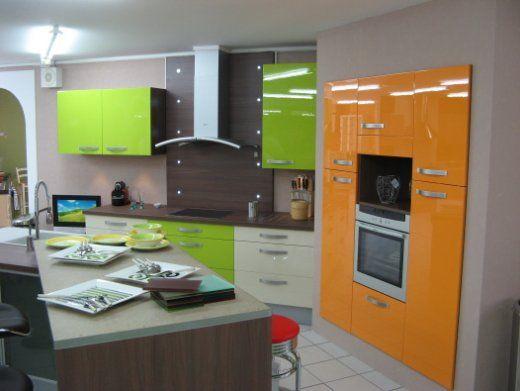 décoration cuisine orange et vert | look-cuisine | Pinterest