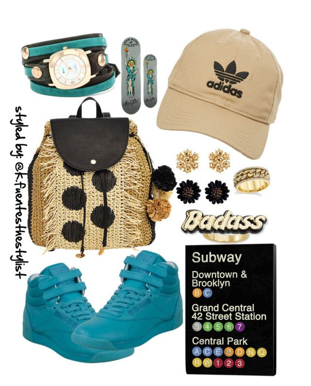 """""""54.11 size 7 in girlz"""" by k-fuentesthestylist on Polyvore featuring Reebok, adidas, La Mer, Tommy Bahama and Steve Madden"""