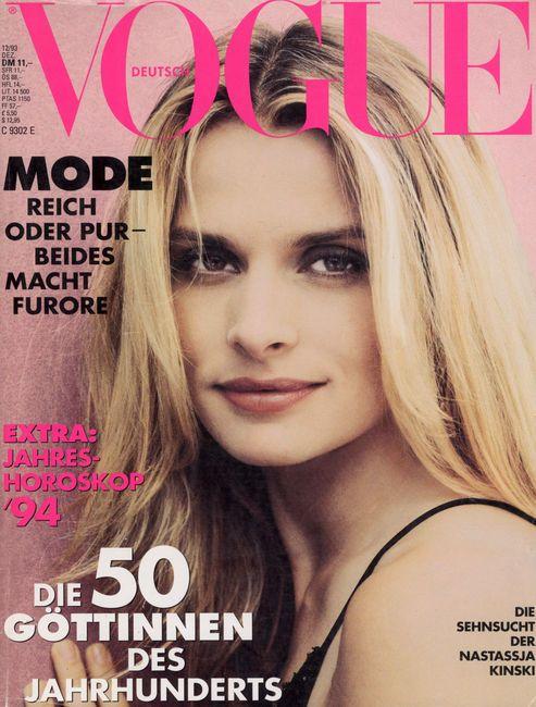 GERMAN VOGUE - DECEMBER 1993 COVER MODEL - NASTASSJA KINSKI