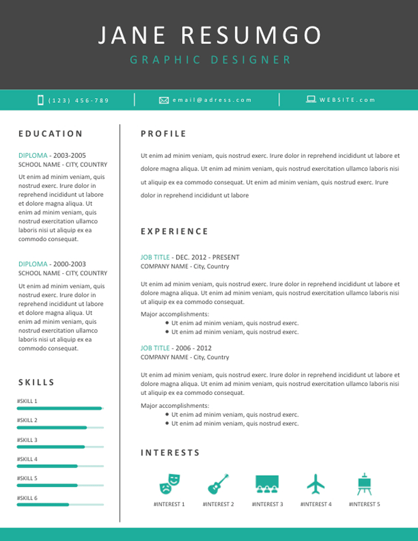 TANIS Professional Resume Template