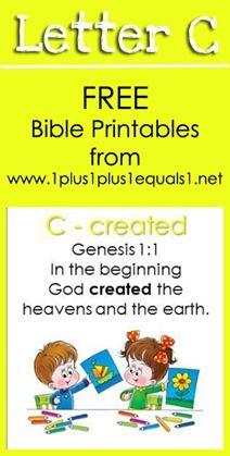 Free Bible Verse Printables ~ Letter C {Raising Lil Rock Stars} www.1plus1plus1equals1.net