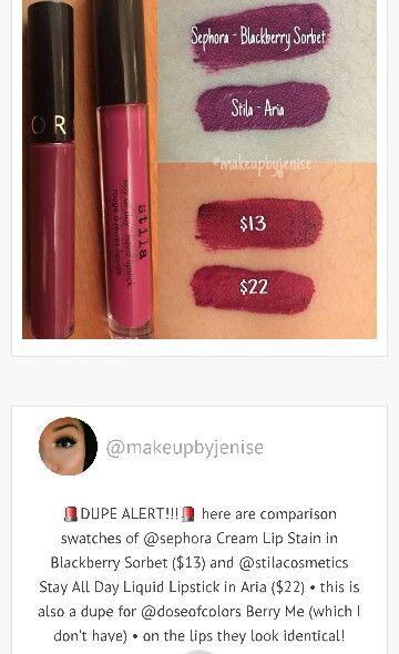 Sephora Cream Lip Stain 14 Blackberry Sorbet Dupe For