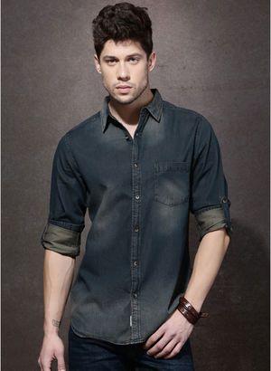 15e0ebf55f4161 Denim Shirts for Men - Buy Men Denim Shirts Online in India