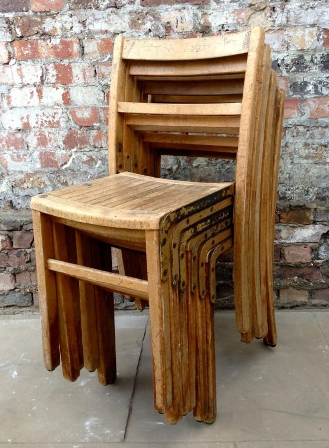 Stackable Wooden Chairs vintage kingfisher wooden stackable chairs. might want something