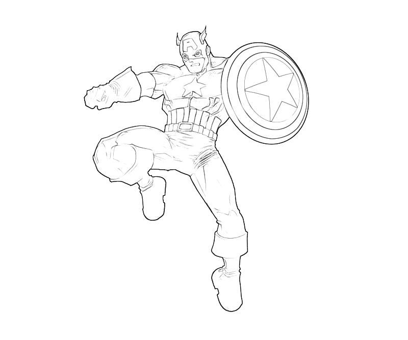 Free Printable Captain America Coloring Pages For Kids Captain