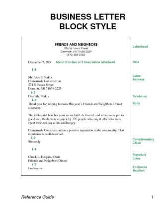 Block Letter Format Business Letter Business Letter Template Business Letter Format Business Letter Example