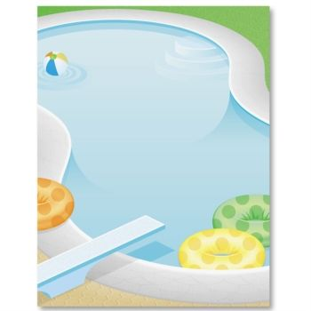 Pool party paperframes border papers paperdirect p a p How to make swimming pool with paper