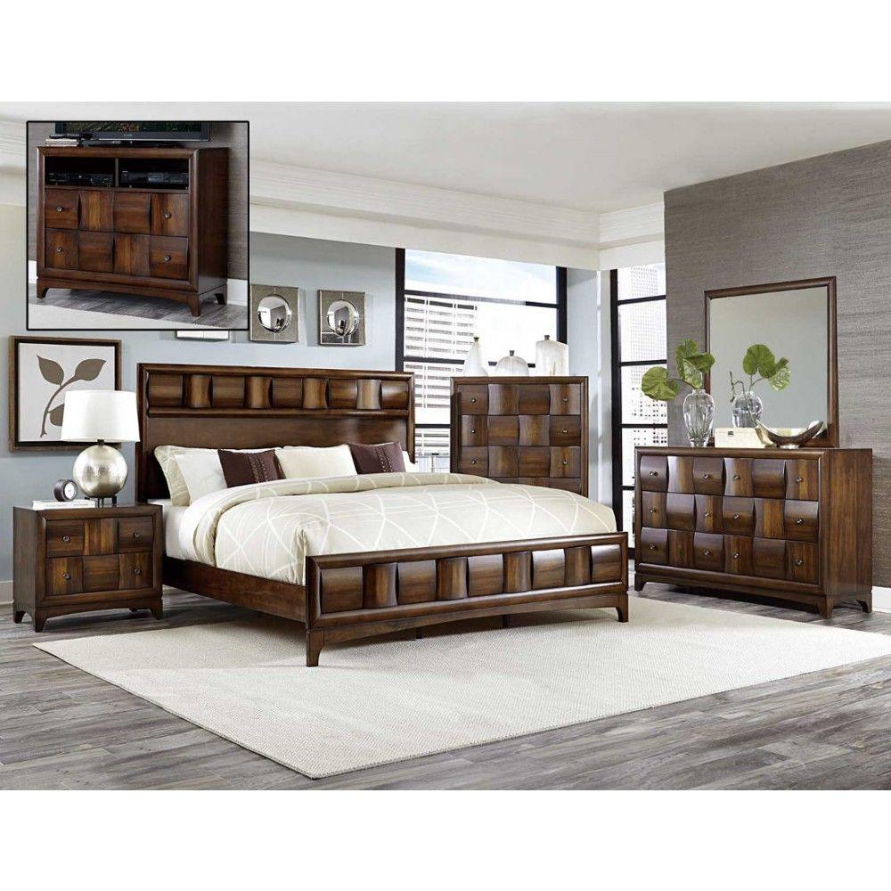 Porter 5 Piece Bedroom Set: Homelegance Porter Bedroom Set In Warm Walnut