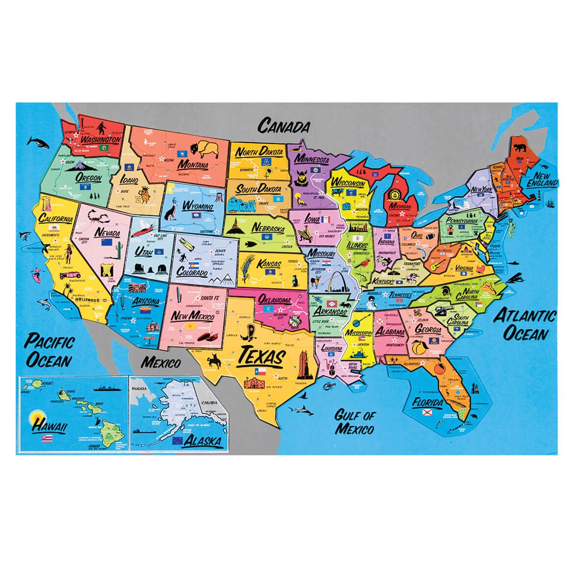 Usa Magnetic Puzzle Map In 2019 Home Map Puzzle Map World Map - Map-of-us-puzzle