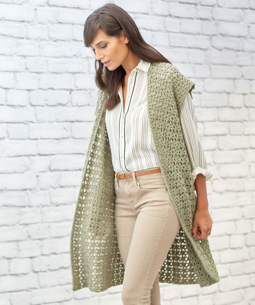 Wonderlijk Free Crochet Pattern for Sage Stitch Long Cardigan (With images HK-12