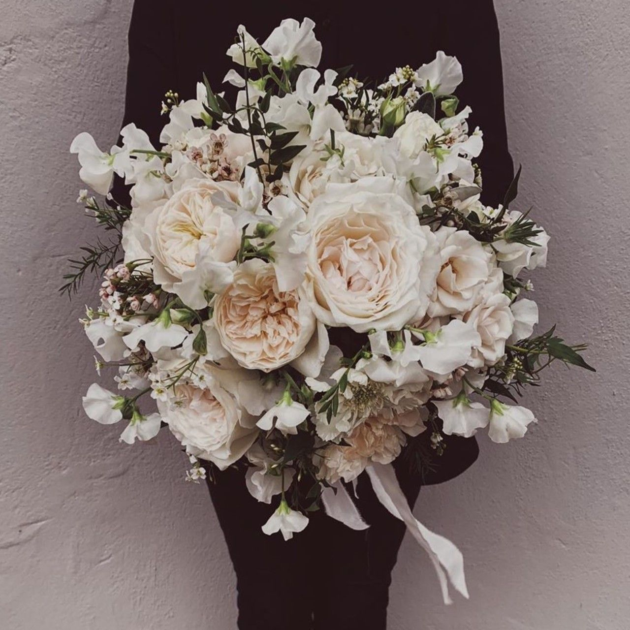 This Beautiful Hand Tied Wedding Bouquet By Wild About Flowers Includes David Austin Wedding Roses Grown At David Austin Bouquet Rose Wedding Wedding Bouquets