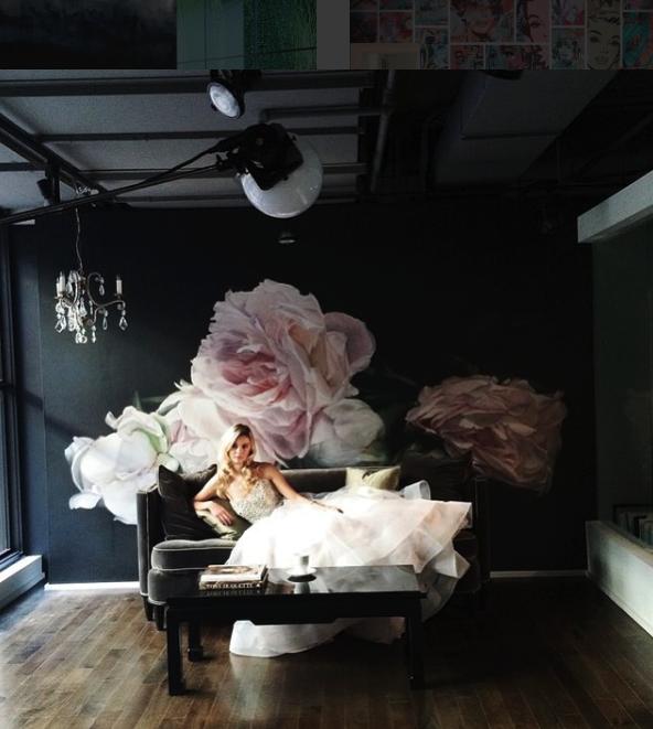 Black Leather Living Room Garden Rose And Peony: Photo Shoot For MSP Magazine Stylist Liz Gardner