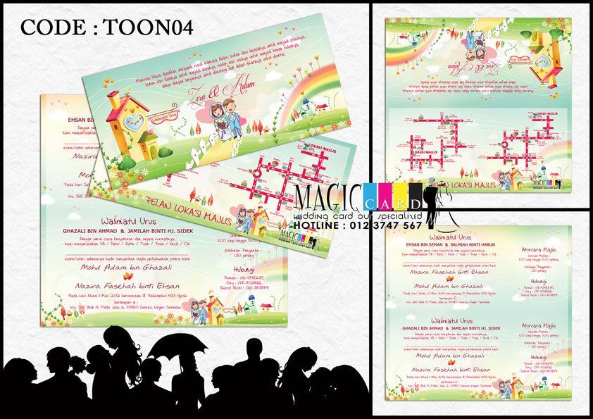 Rekaan Kad Kahwin Dalam Koleksi Cartoon Oleh Magiccard Enterprise Page 1 2 Kad Kahwin Cool Stuff Kami