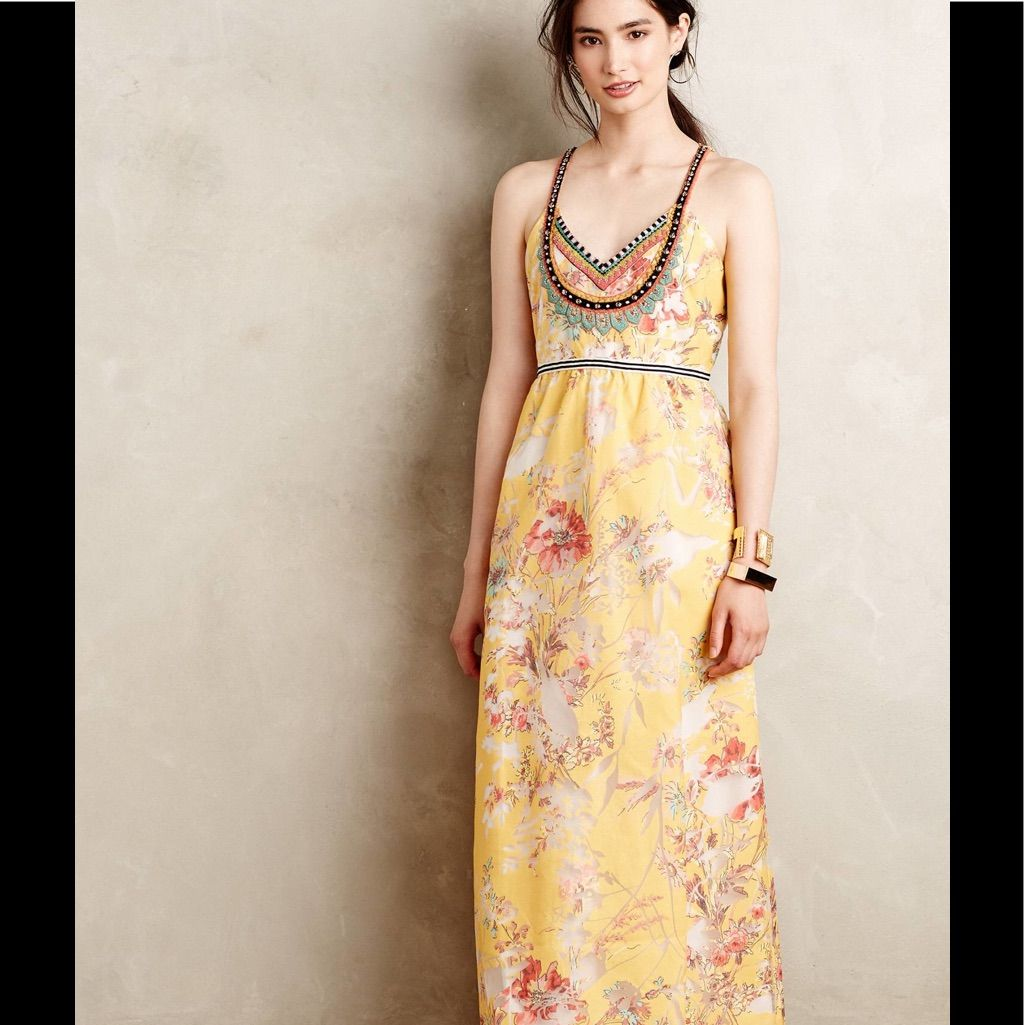 Nwt gorgeous yellow gold maxi dress gown products
