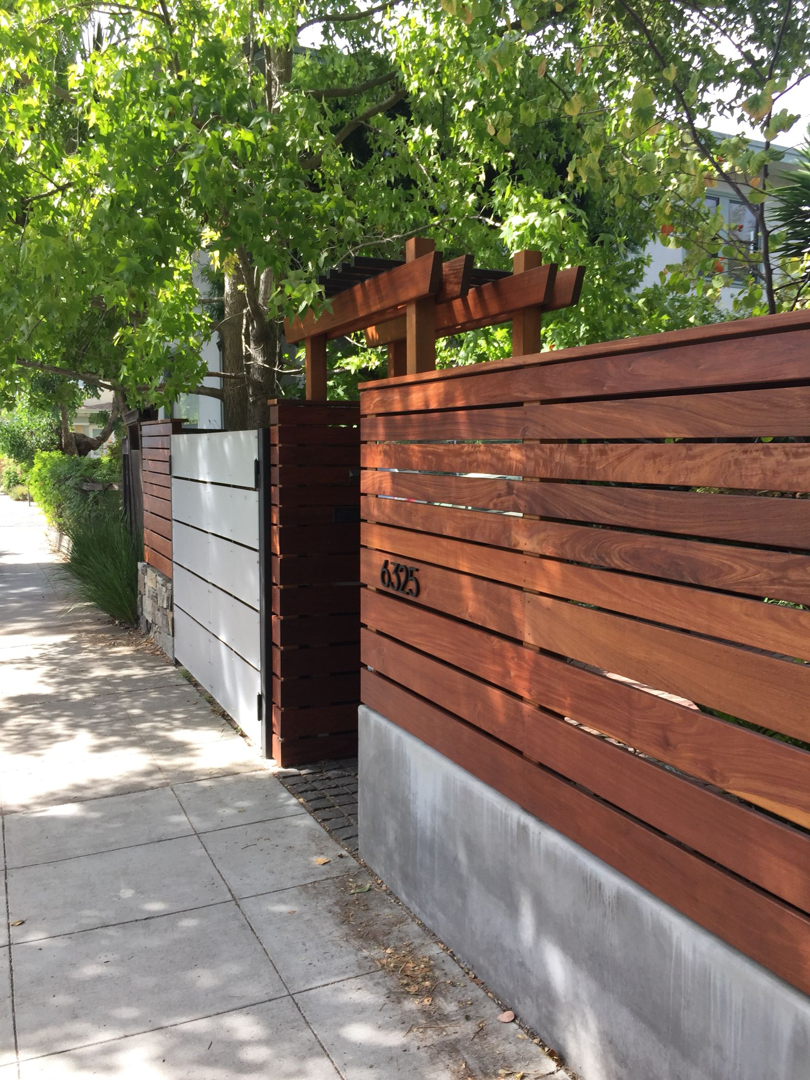 Wood Metal And Concrete Fence Privacy Fence Designs Wood Fence Design Fence Design
