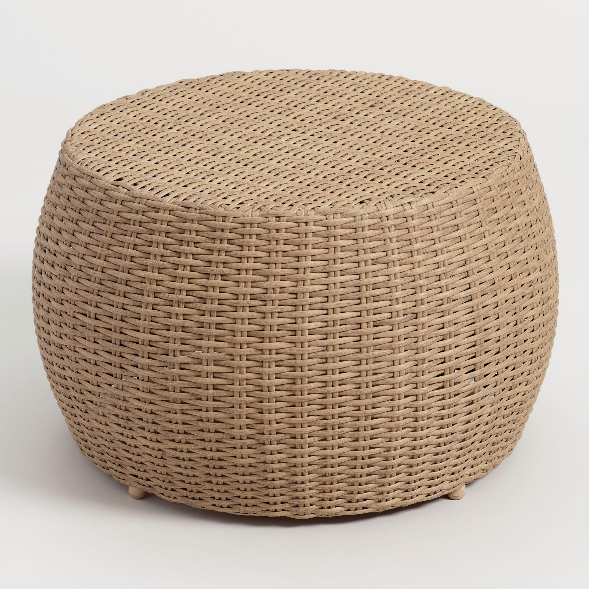 All Weather Wicker Vilamoura Outdoor Patio Coffee Table By