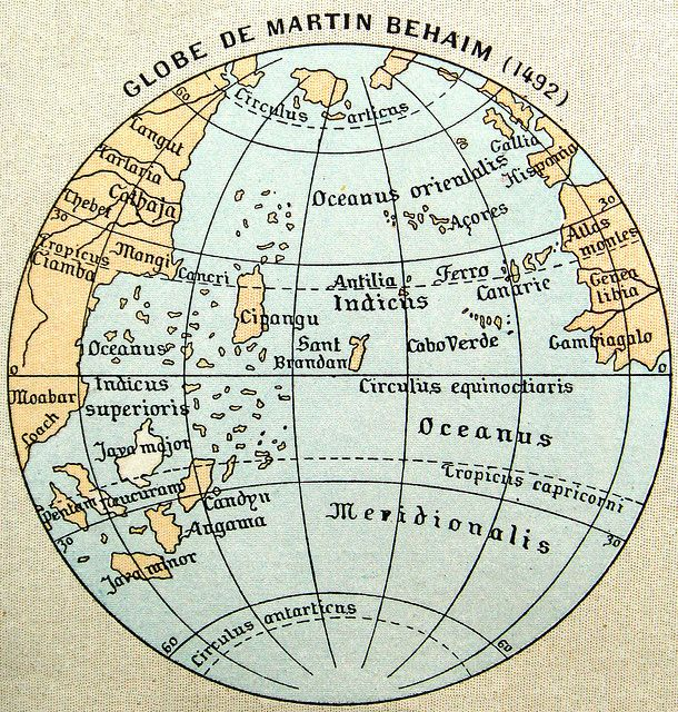 Map of Martin Behaim 1492 History