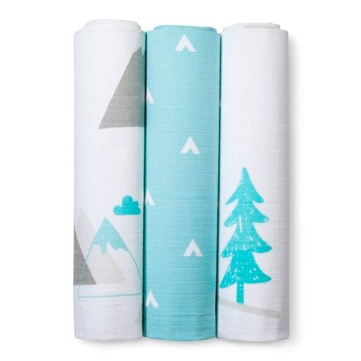 Swaddle Blankets Target Magnificent Muslin Swaddle Blankets Adventure Awaits 3Pk  Cloud Island™  Light Review